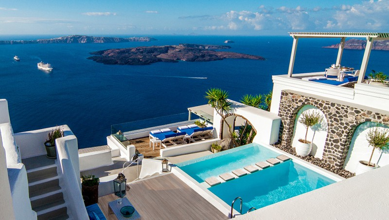 The Cliff-Side Iconic Santorini Hotel Opens New Suites With Incredible Views