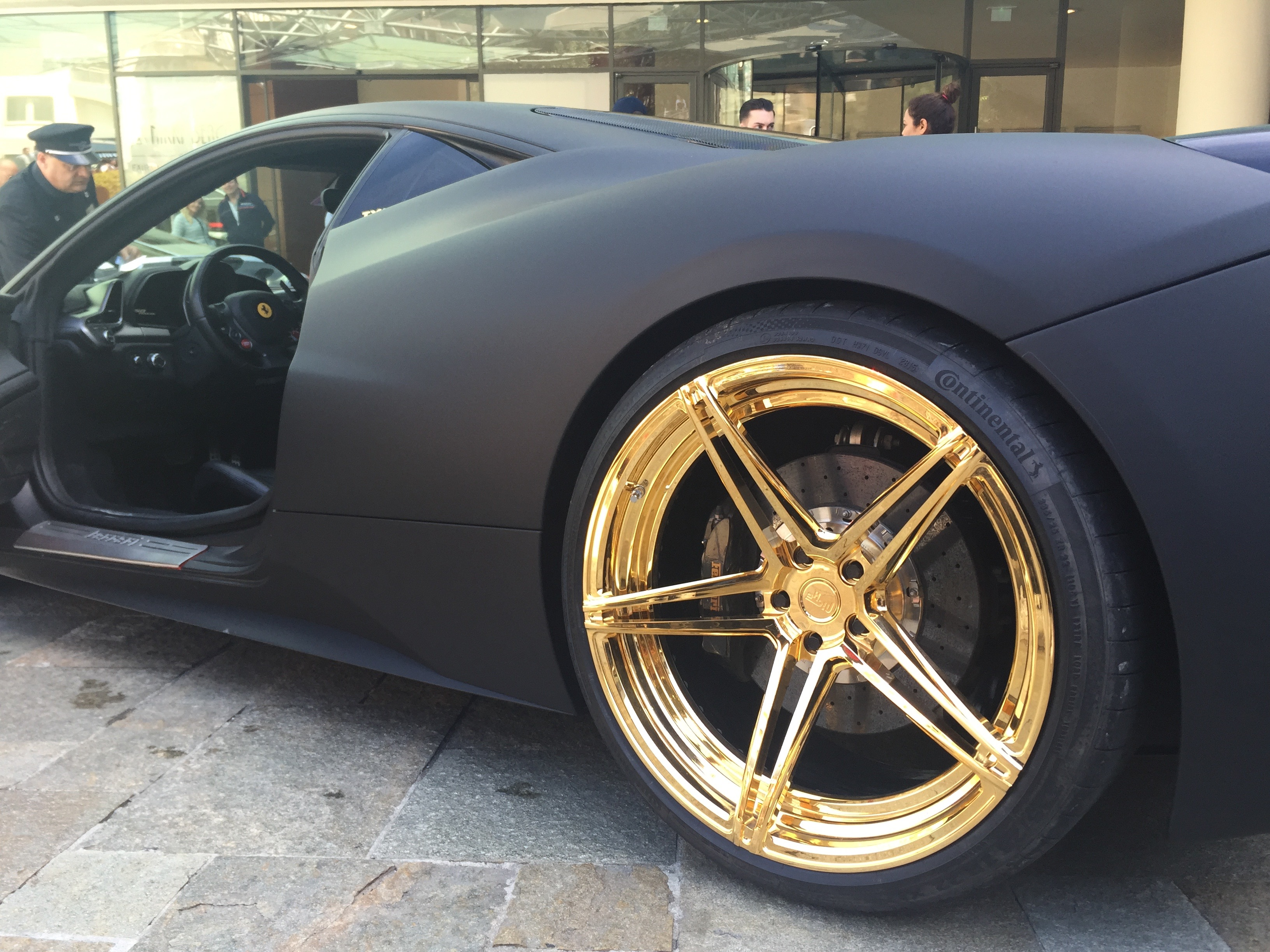 Black And Gold Ferrari 458 In Monaco – Amazing BLING!