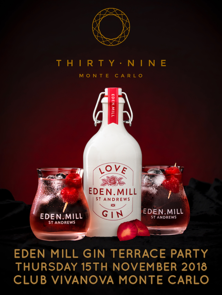 THIRTY NINE Monte Carlo Eden Mill Gin Cocktail Terrace Party