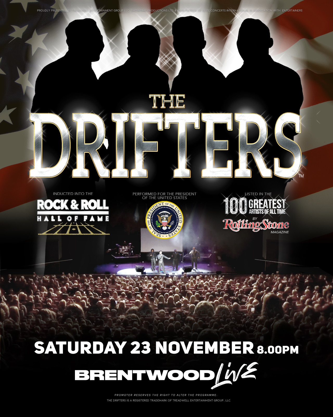 THE DRIFTERS Bring Major 100+ Date UK Tour To BRENTWOOD
